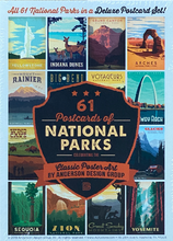 Load image into Gallery viewer, 61 Postcards of National Parks