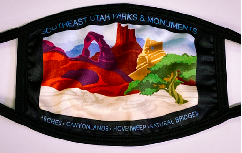 Southeast Utah Parks Face Cover