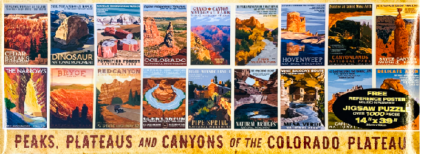 Peaks,Plateaus and Canyons of the Colorado Plateau Retro Ranger Puzzle