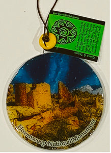 Hovenweep Night Sky Glass Ornament/Sun Catcher