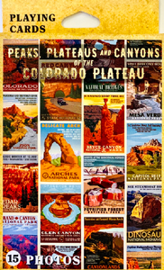 Peaks,Plateaus and Canyons Playing Cards