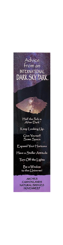 Advise from an International Dark Sky Park Bookmark