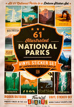 Load image into Gallery viewer, 61 National Parks Sticker Set