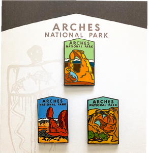 Arches National Park Pin Set