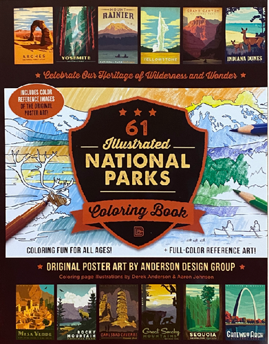 61 National Parks Coloring Book