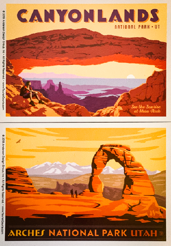 Delicate Arch and Mesa Arch Vinyl Magnet Set