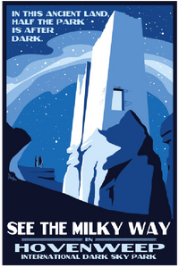 Hovenweep Night Sky Poster