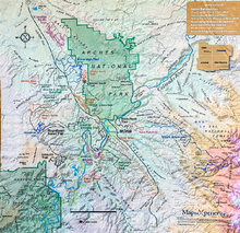 Load image into Gallery viewer, Moab Trails Handy Map Microfiber Bandana