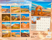 Load image into Gallery viewer, 2021 Peaks, Plateaus, and Canyons Wall Calendar
