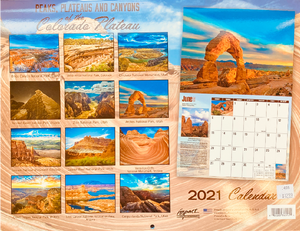 2021 Peaks, Plateaus, and Canyons Wall Calendar