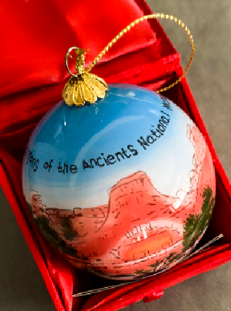 Canyons of the Ancients National Monument Glass Ornament