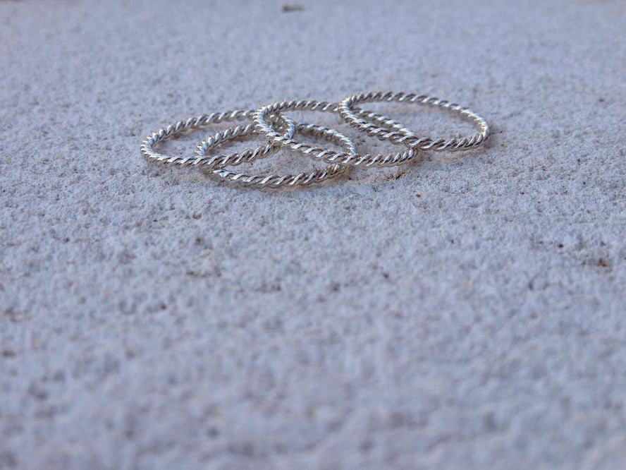 Twist Rings in Silver