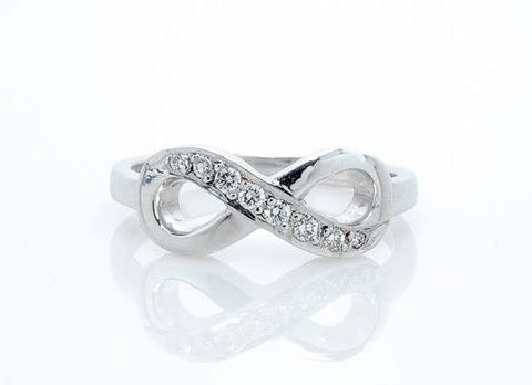 Infinity Diamond Ring White Gold