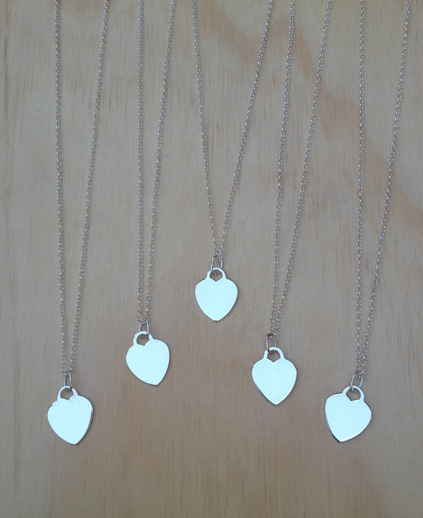 Mini Heart Tag silver necklace