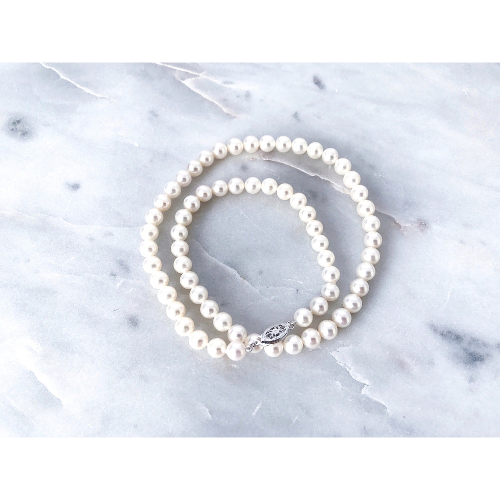 Audrey Pearl Strand Necklace