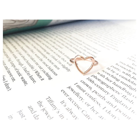 L'amour Heart Ring Gold