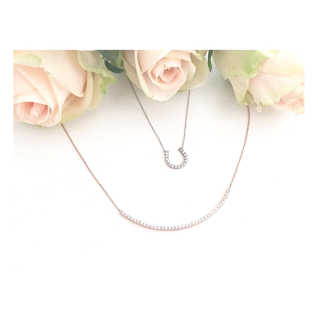 Beam Bar Diamond Necklace