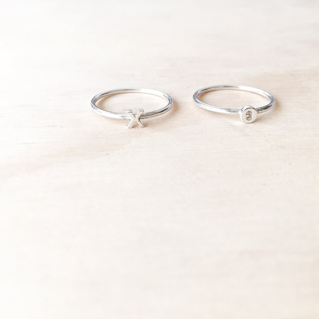 Alphabet Rings Silver
