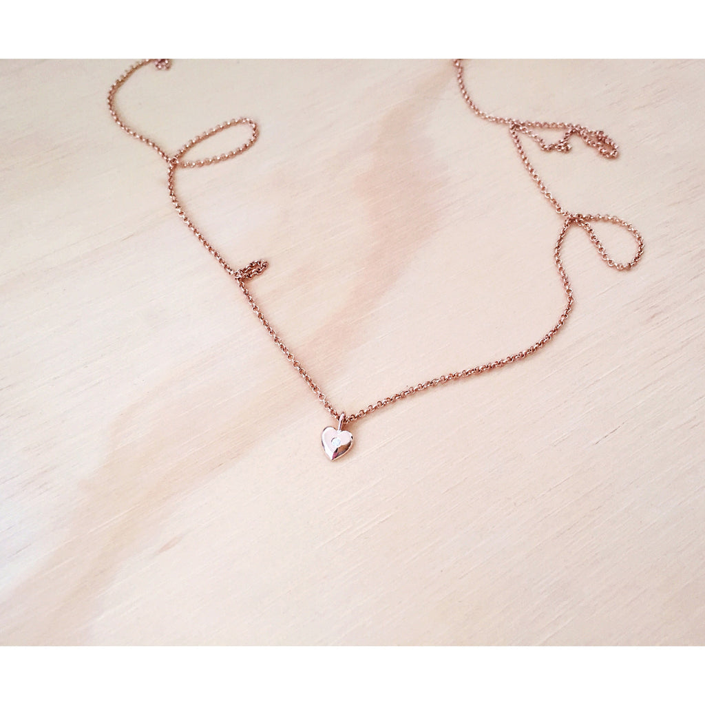 Mini Heart Diamond Necklace