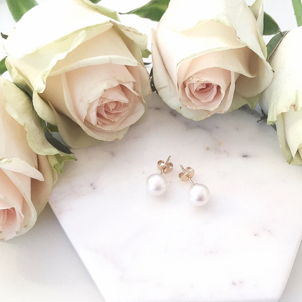 South Sea Pearl Round Earrings 18k