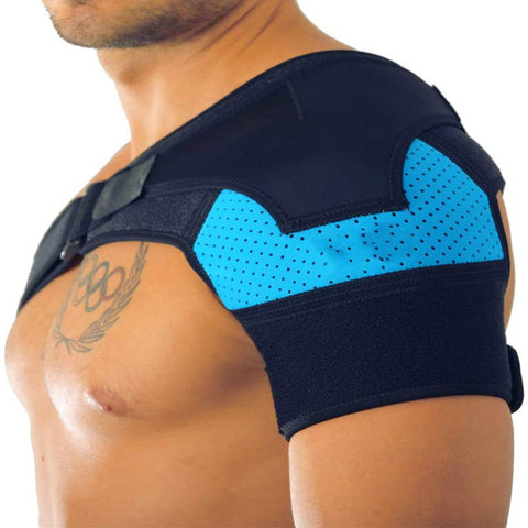Image of Breathable and ice pack sports shoulder pads