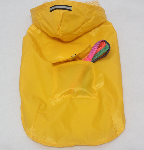 Pet Reflective Big Dog Rainwear Dog Rainwear Super Waterproof Cap All-in-One Dog Clothes
