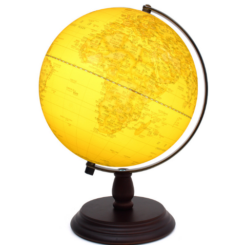 20CM stereo anaglyph globe Taiwan HD antique retro special ornaments with high quality 25CM students study