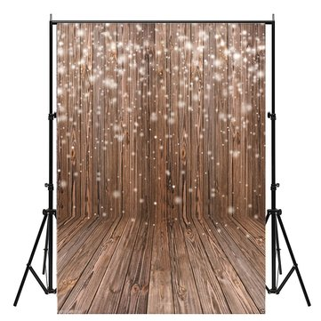 5x7FT Snow Wood Floor White Theme Vinyl Studio Photography Backdrop Photo Background