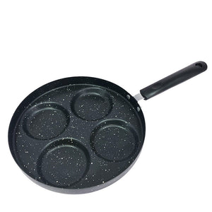 Four-hole non-stick small flat bottom fried egg dumpling pot