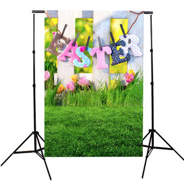 3x5FT Eater Grasses Flower Photoraphy Backdrop Background Studio Prop