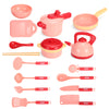 16Pcs Simulation Kitchen Cooking Play Role playing Set Toys Practical Skills for Children Gift