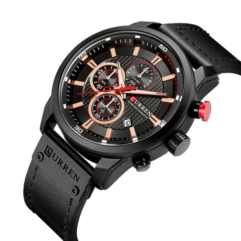 CURREN 8291 Casual Style Multi Function Quartz Watch Date Display Men Wrist Watch