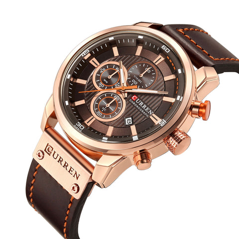 Image of CURREN 8291 Casual Style Multi Function Quartz Watch Date Display Men Wrist Watch