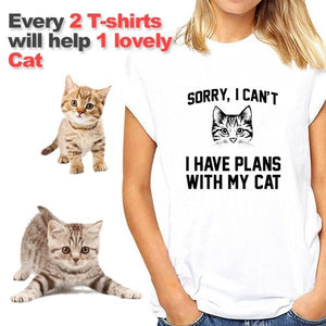 Sorry I Can't I Have Plans With My Cat T-Shirt