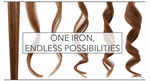 waves and straight styles the 2 in 1 Hair curler