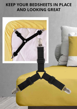 Adjustable Bed Sheet Fixing Clips (4pcs)