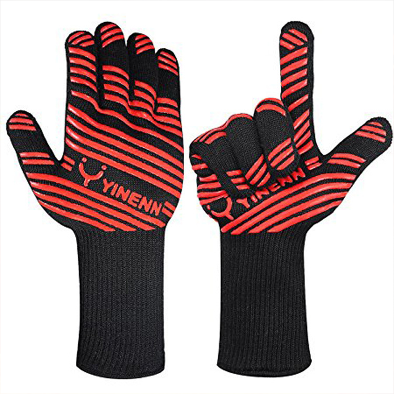EXTREME HEAT RESISTANT BBQ FIREPROOF GLOVES 932℉(500℃)