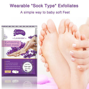 Peeling Exfoliating Socks Feet Mask Remove Dead Skin Cuticles