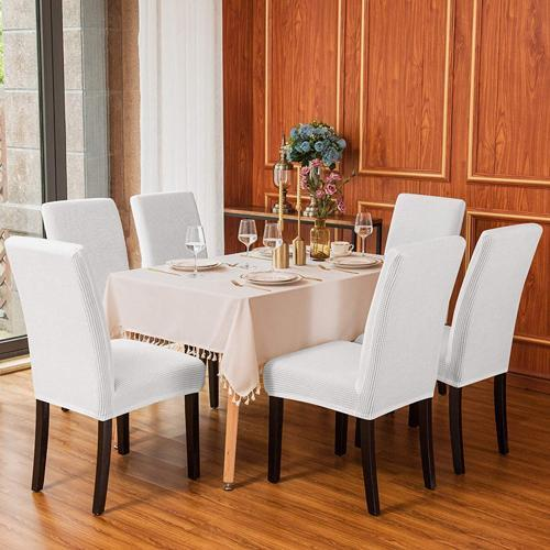 Waterproof & Anti-Stain Washable Universal Strech Dining Room Wooden Parsons Chair Slipcovers
