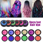 Reusable & Washable Fast Hair Dye Set,For All Colors of Hair (6 Colors)