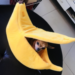 Plush Banana Cat Bed