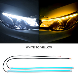 Flexible 60CM LED Car DRL Daytime Running Lamp Strip Light Soft Tube