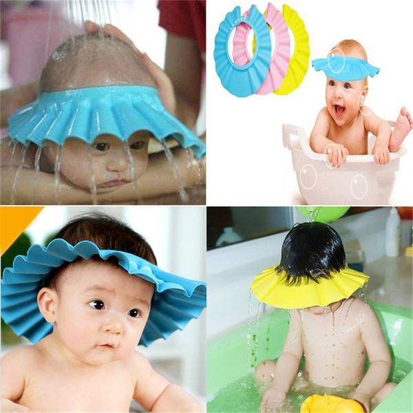 ADJUSTABLE BABY SHOWER CAP - KEEPS SOAP OUT OF BABY'S EYES