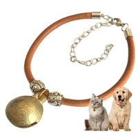 Dog Puppy Collar Necklace Copper Bell Supplies