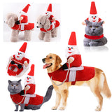 Horse Riding Disguise Christmas  Pet Jacket Clothes