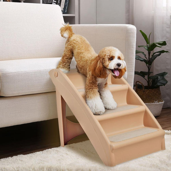 Dog Safety Folding Plastic Pet Stairs Climbing Ladder