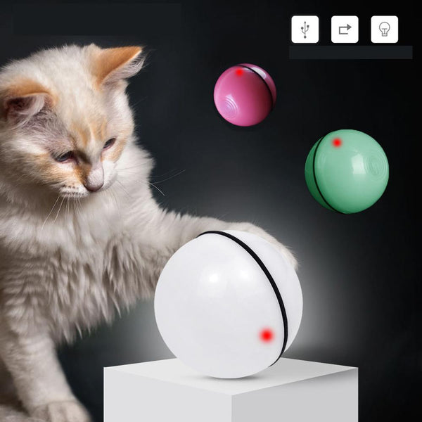 LED Auto Rolling Ball Amusing Toy Pets Chasing Ball