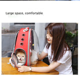 Portable Pet Cat Dog Travel Transparent Space Backpack