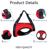 Dog Lift Harness Lifting Back Sling Handle Black