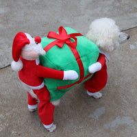 Santa Claus Carry Gift Christmas Puppy Pet Cloth